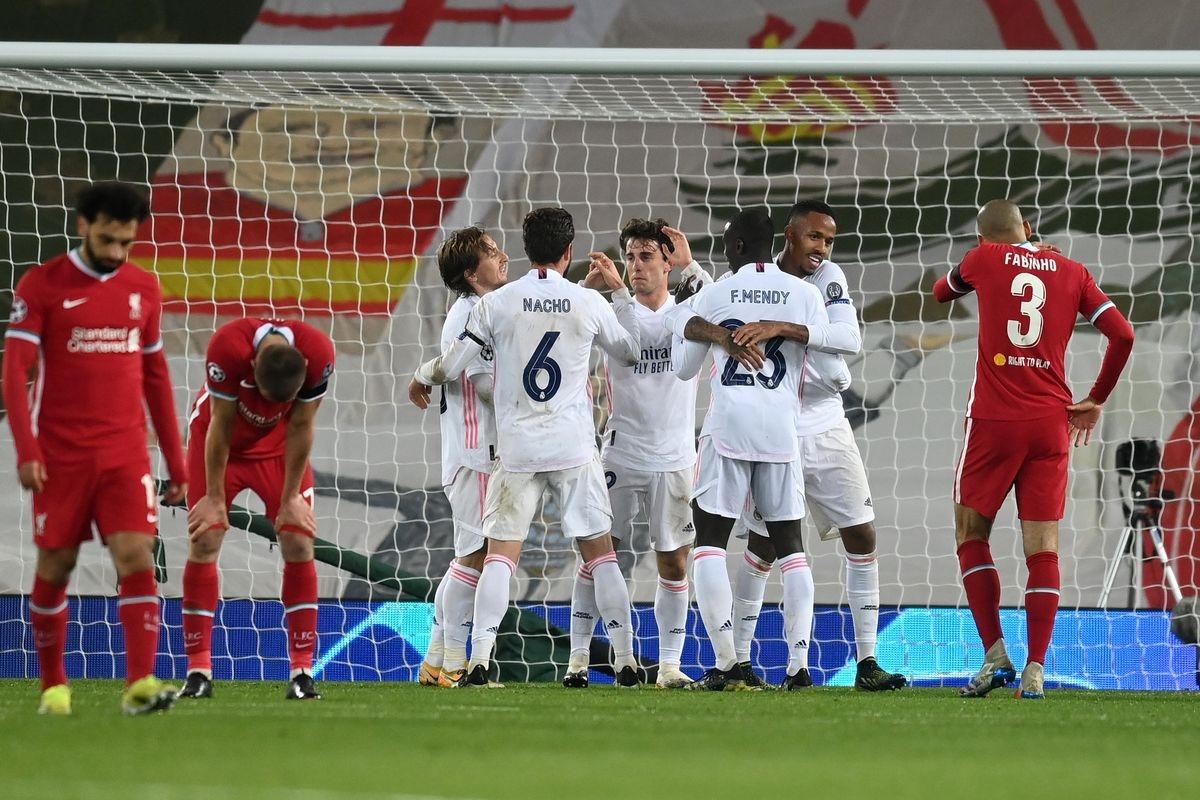 Liverpool hòa Real Madrid 0-0 trên sân Anfield và bị loại với tổng tỷ số 1-3 sau hai lượt trận tứ kết Champions League.