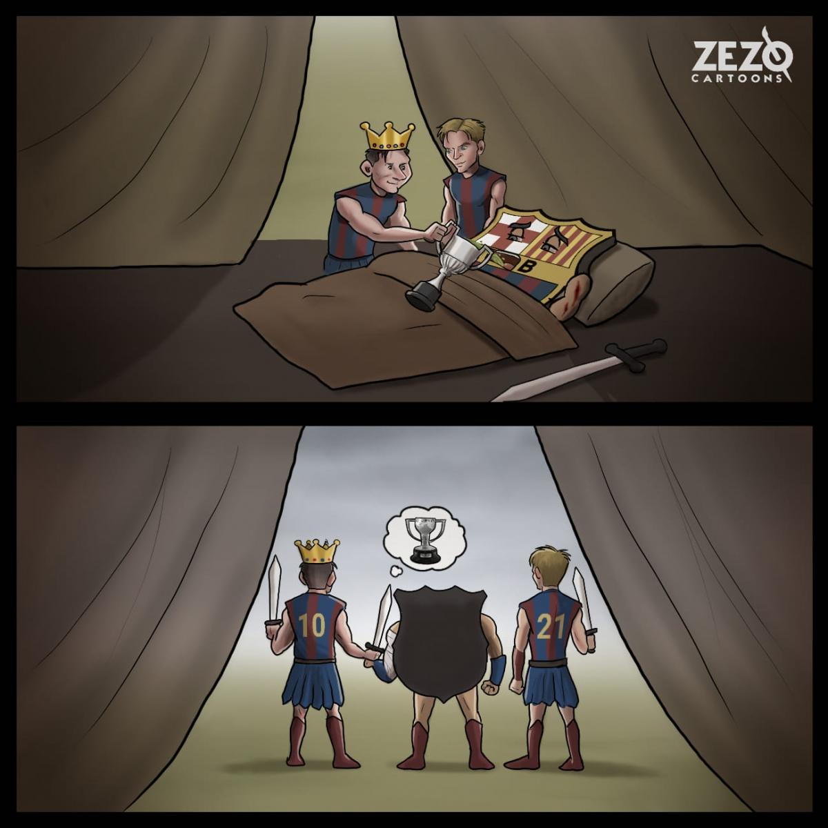 Messi giúp Barca vô địch Cúp nhà Vua sau khi bị loại khỏi Champions League./.