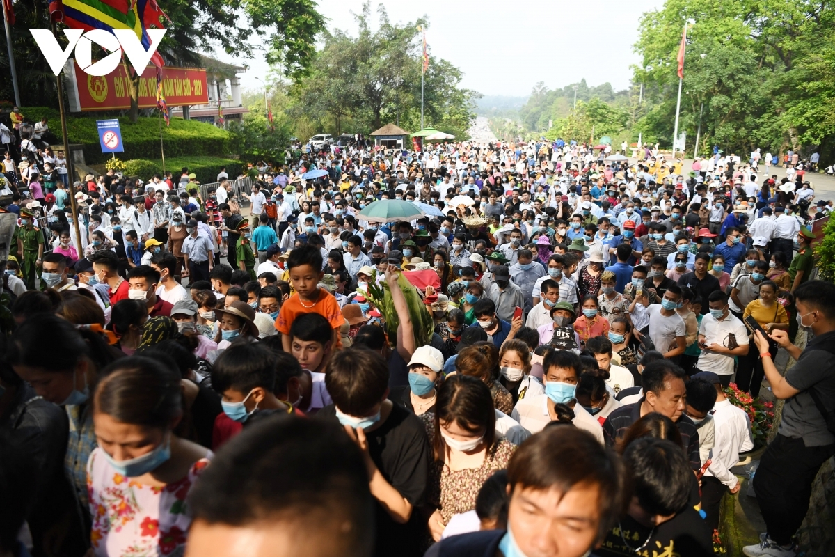 The temple is full of visitors ahead of the major festival.