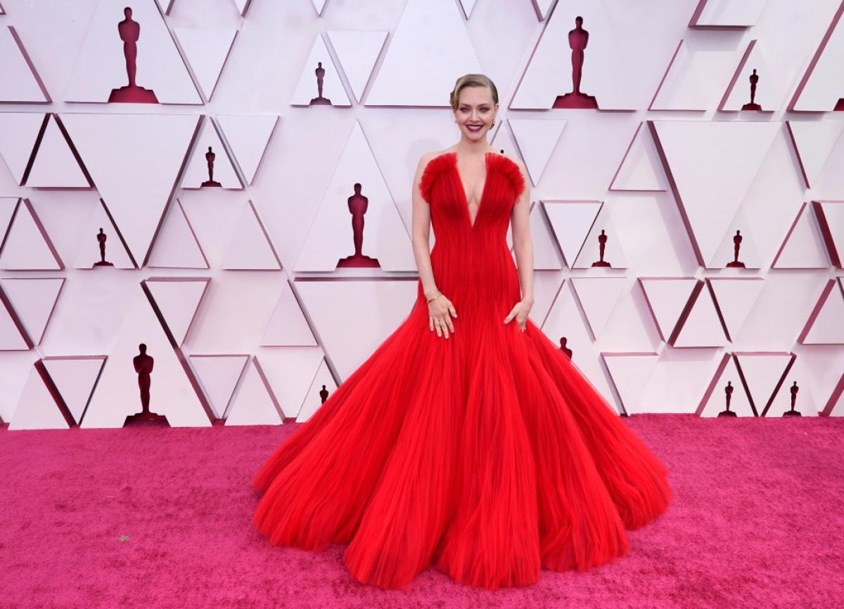 """Amanda Seyfried đã giành được đề cử Oscar cho Nữ diễn viên phụ xuất sắc nhất nhờ vai Marion Davies trong bộ phim """"Mank"""" của David Fincher. Ảnh: AP."""