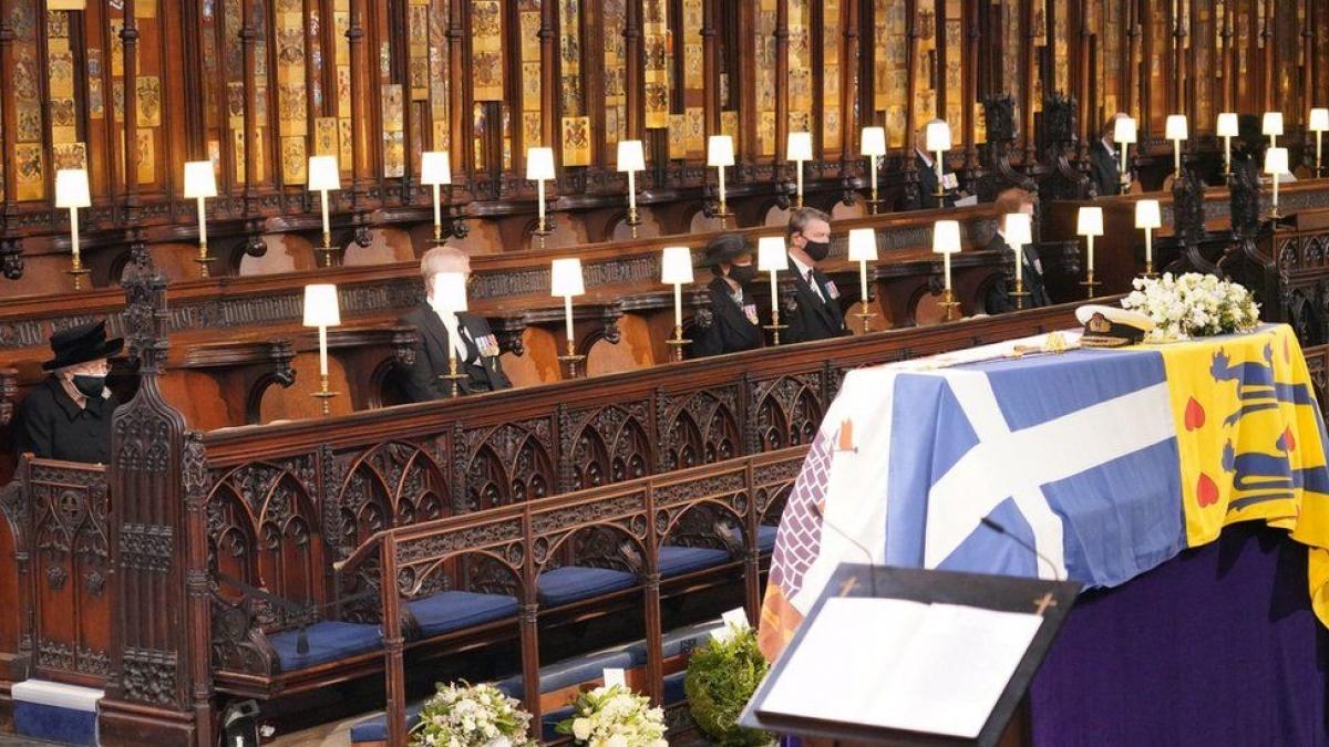 Lễ tang Hoàng thân Philip. Ảnh: BBC