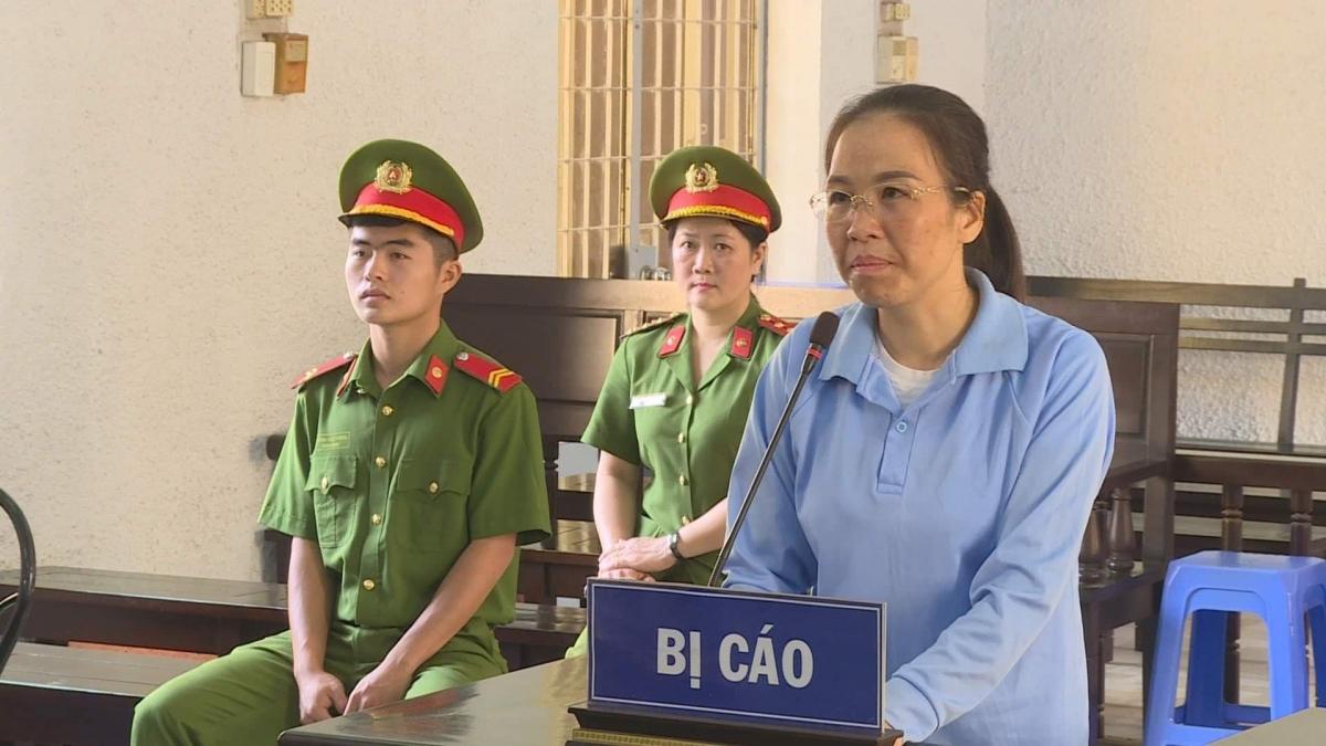 Bị can Đào Thanh Tâm trong phiên phúc thẩm hôm nay (20/4).