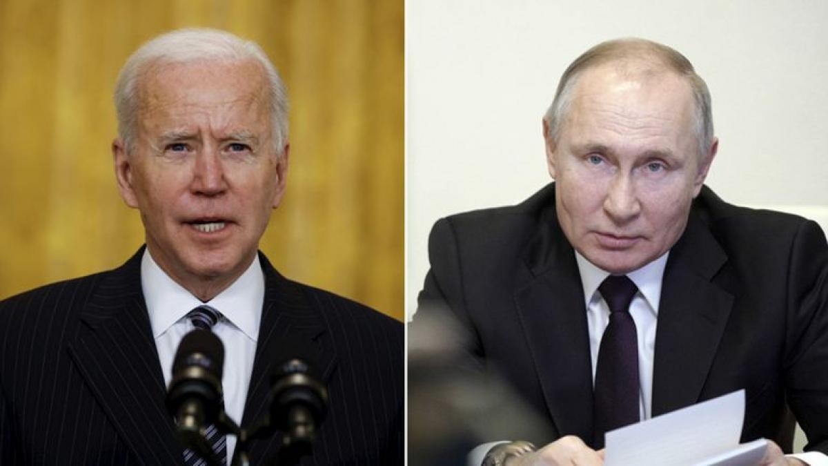 Tổng thống Mỹ Joe Biden hôm qua (13/4) đã điện đàm với người đồng cấp Nga Putin. Ảnh: Reuters