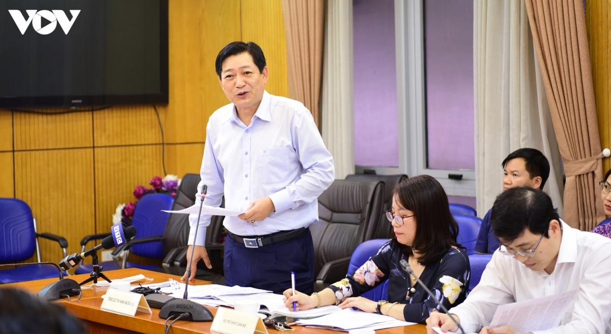 Phó Tổng cục trưởng Tổng cục Thi hành án Dân sự - ôngNguyễn Văn Sơn (Ảnh: Trọng Phú)