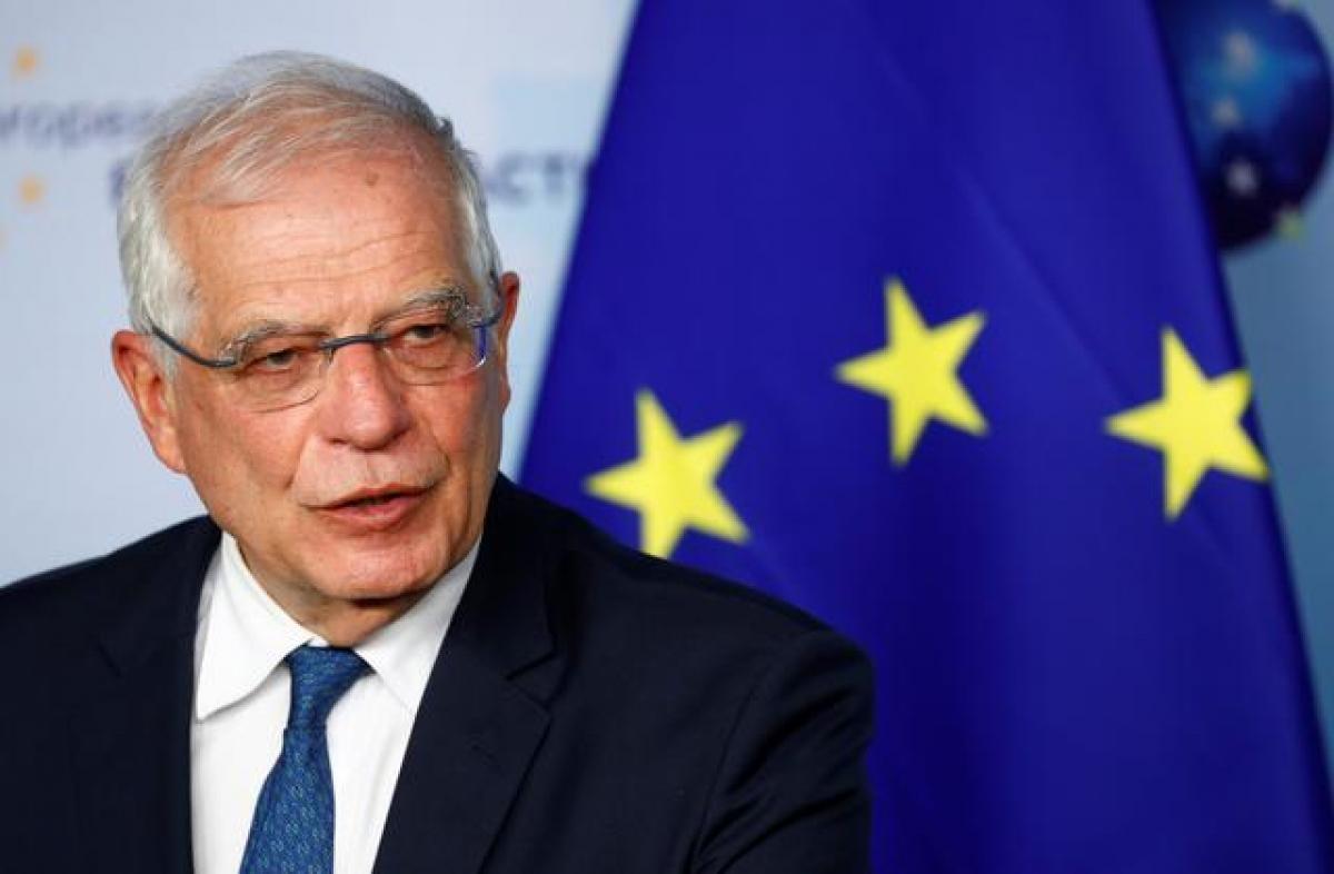 Cao ủy Liên minh châu Âu phụ trách chính sách an ninh và đối ngoại Josep Borrell. Ảnh: Reuters