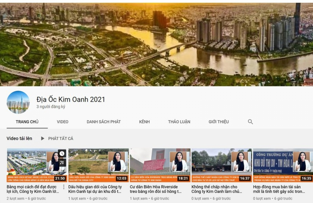 """Tài khoản này được """"tội phạm mạng"""" sử dụng chính tên Công ty của bà Đặng Thị Kim Oanh để """"làm nhục"""" chủ Kim Oanh Group trên mạng xã hội."""