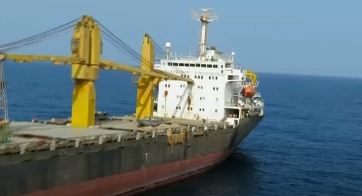 Tàu chở hàng Saviz của Iran trên Biển Đỏ năm 2018. Ảnh: Times of Israel