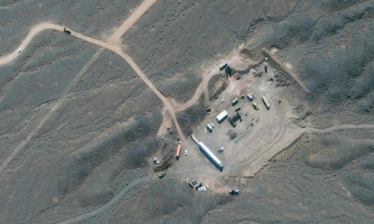Hình ảnh vệ tinh của cơ sở hạt nhân Natanz. Ảnh: Getty