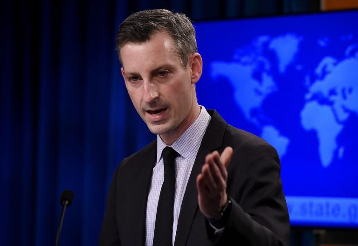 Người phát ngôn Bộ Ngoại giao Mỹ Ned Price. Ảnh: Reuters
