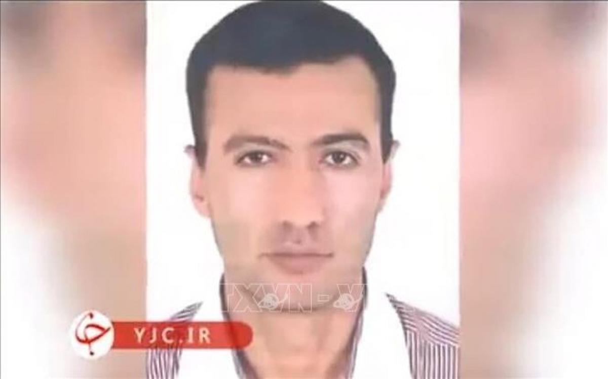 Chân dung nghi phạm phá hoại cơ sở hạt nhân Natanz Reza Karimi. Ảnh: Times of Israel/TTXVN