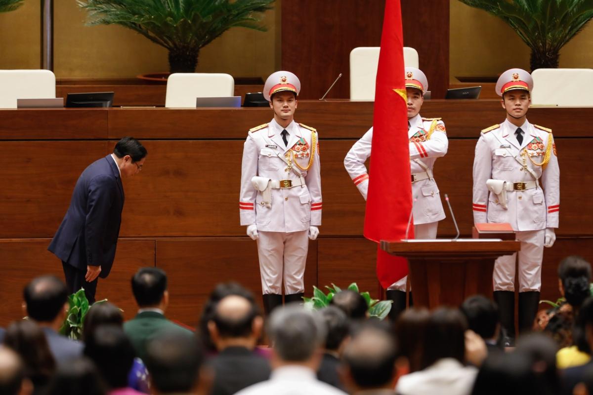 Thủ tướng Phạm Minh Chính tuyên thệ nhậm chức.