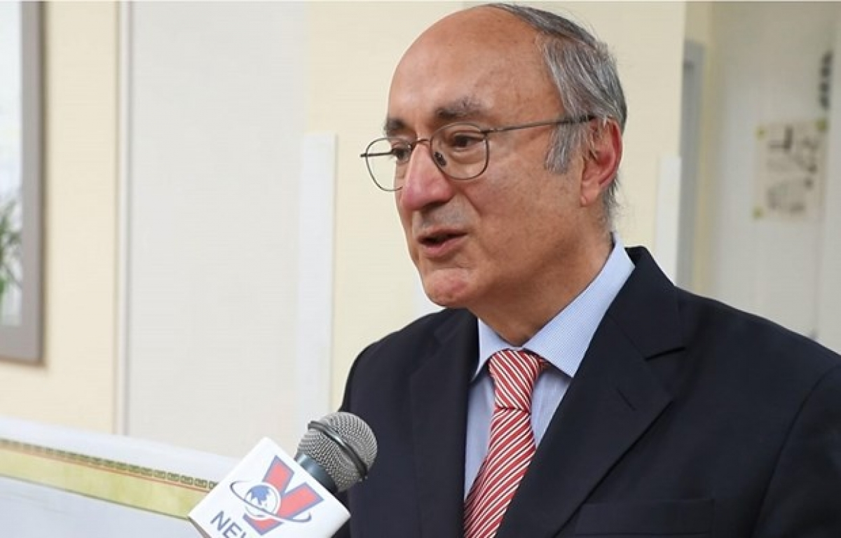 President of the World University Service (WUS) Kambiz Ghawami (Photo: VNA)