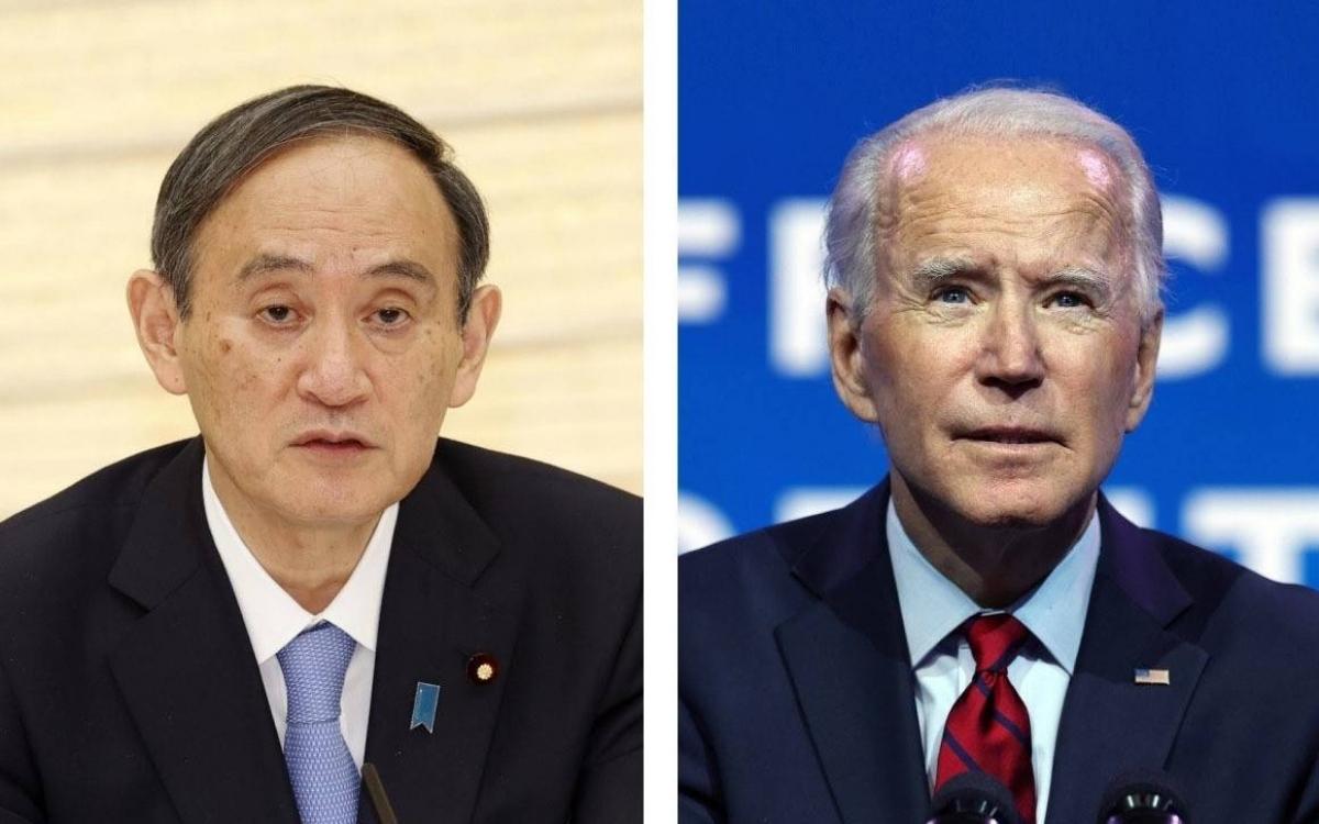 Ông Suga và ông Biden. Ảnh: Japan Times.