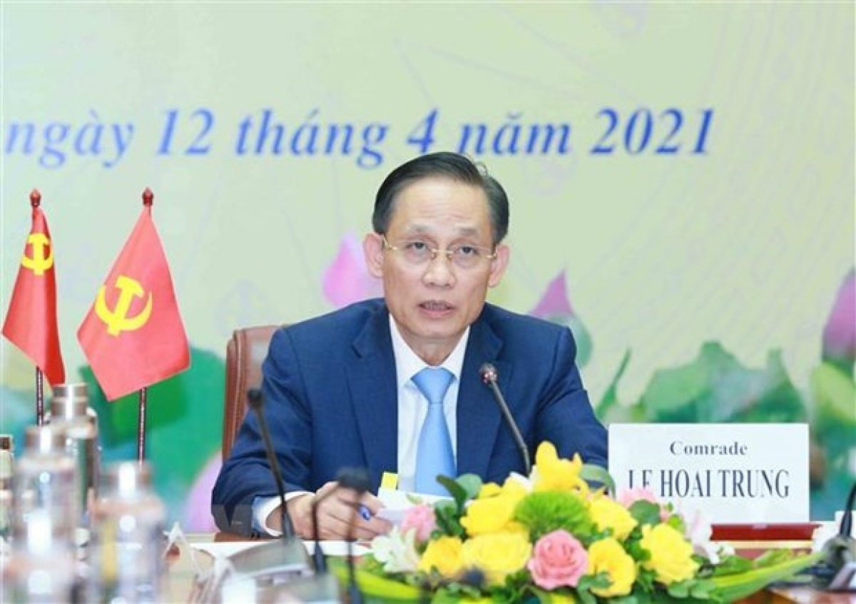 Head of the CPV Central Committee's Commission for External Relations Le Hoai Trung at the event (Photo: VNA)