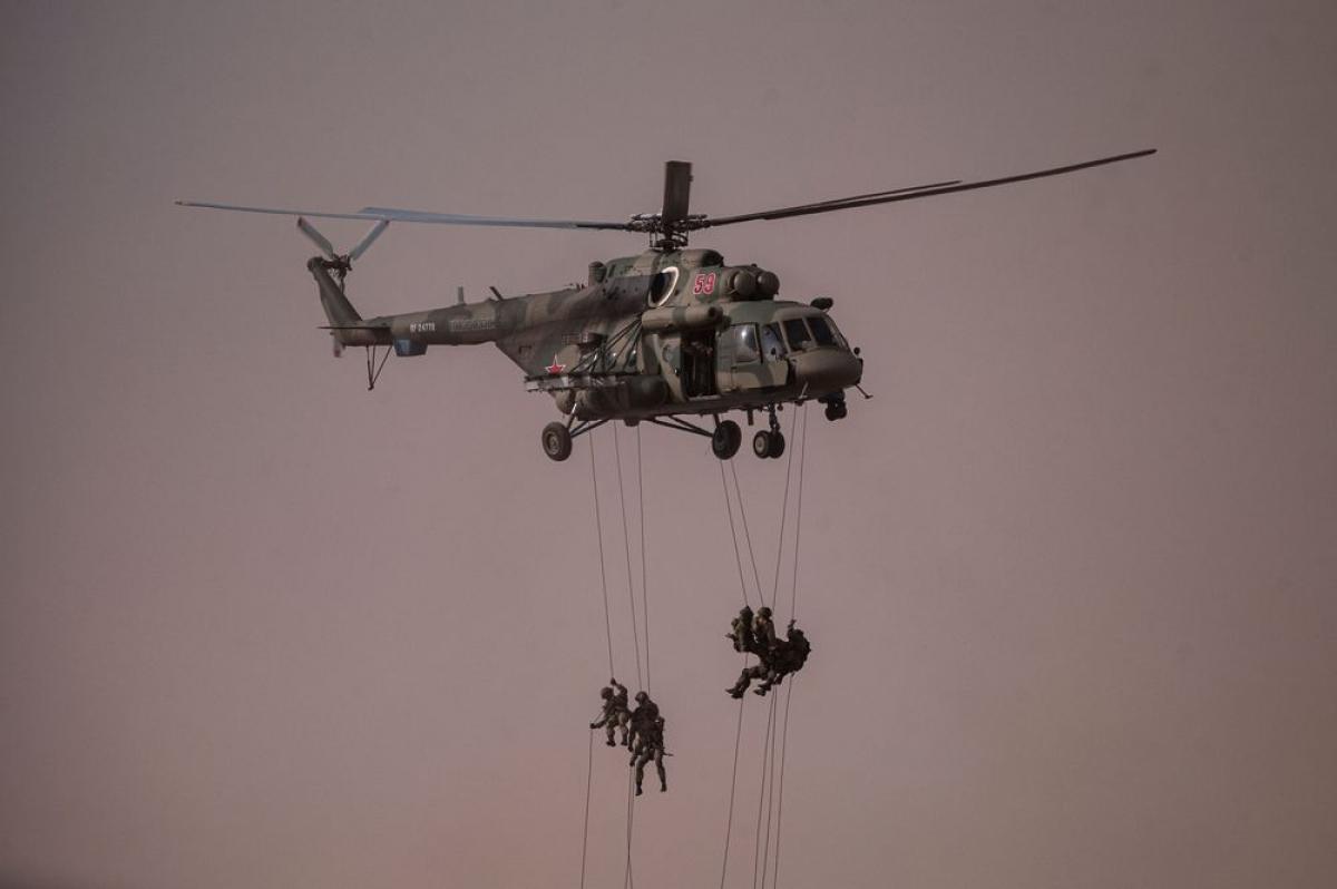 Quân nhân Nga tham gia tập trận ở khu vực Astrakhan phía nam nước Nga năm 2020. Ảnh: AFP