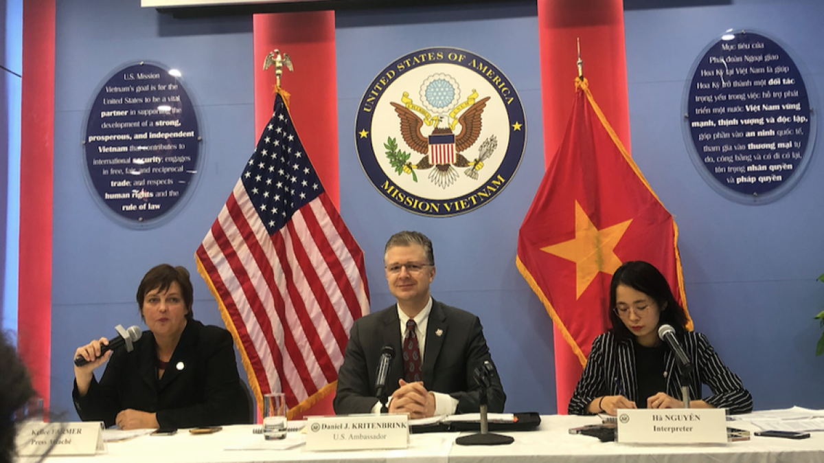 Ambassador Daniel Kritenbrink says he is optimistic about the promising future of the US-Vietnam comprehensive partnership. (Photo: TPO)