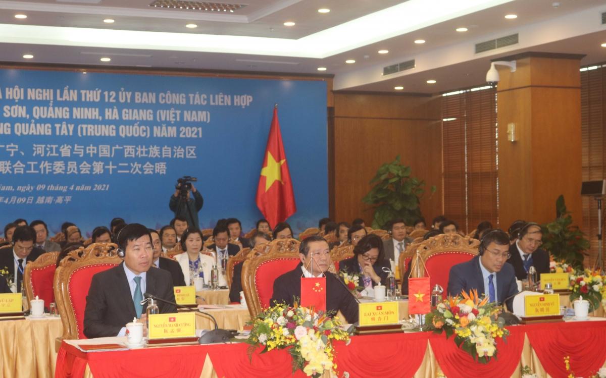 """Hội nghị trực tuyến có chủ đề """"Thắm tình hữu nghị, chủ động thích ứng, tăng cường hợp tác, thúc đẩy phát triển"""" do tỉnh Cao Bằng chủ trì thực hiện."""
