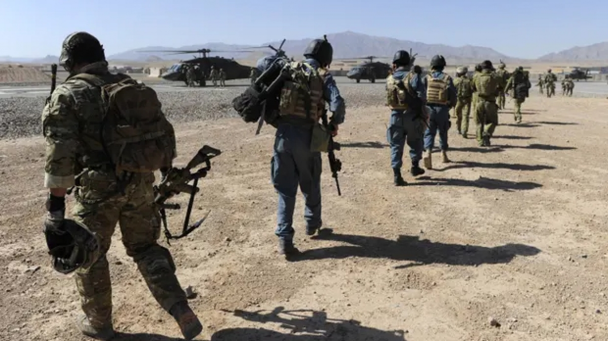 Quân đội Australia và lực lượng địa phương tại Afghanistan. Nguồn: Bộ Quốc phòng Australia