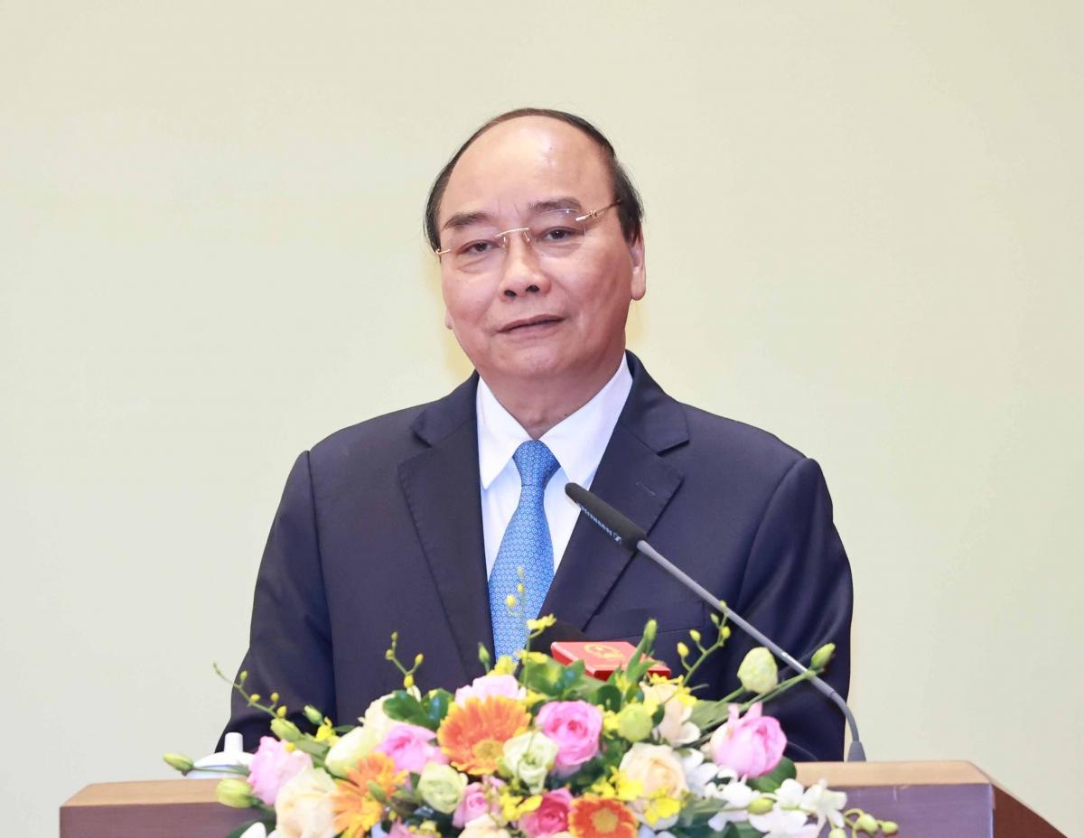 Chủ tịch nước Nguyễn Xuân Phúc phát biểu tại Lễ trao tặng