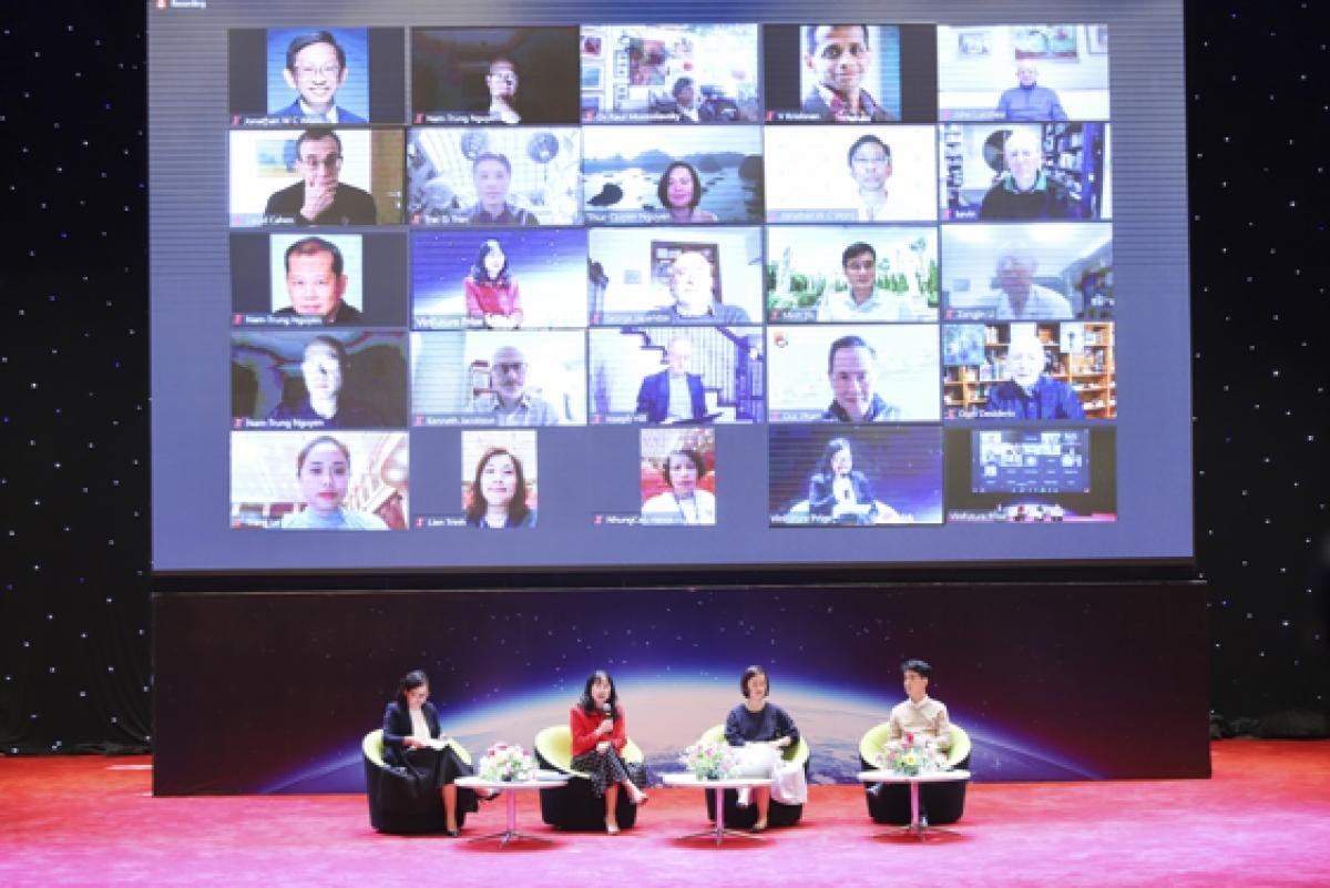 Buổi hội thảo về Giải thưởng VinFuture vào ngày 2/4 quy tụ các nhà khoa học trên toàn cầu.