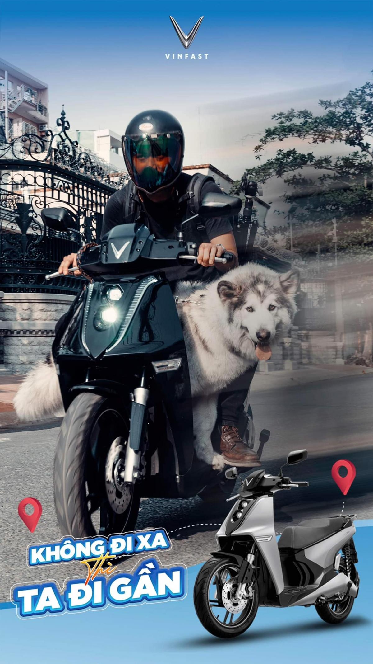 Trong khi đó, travel blogger Tùng Phạm lại nhiệt tình hưởng ứng cuộc thi bằng bức ảnh siêu cá tính cool ngầu cùng với thú cưng.