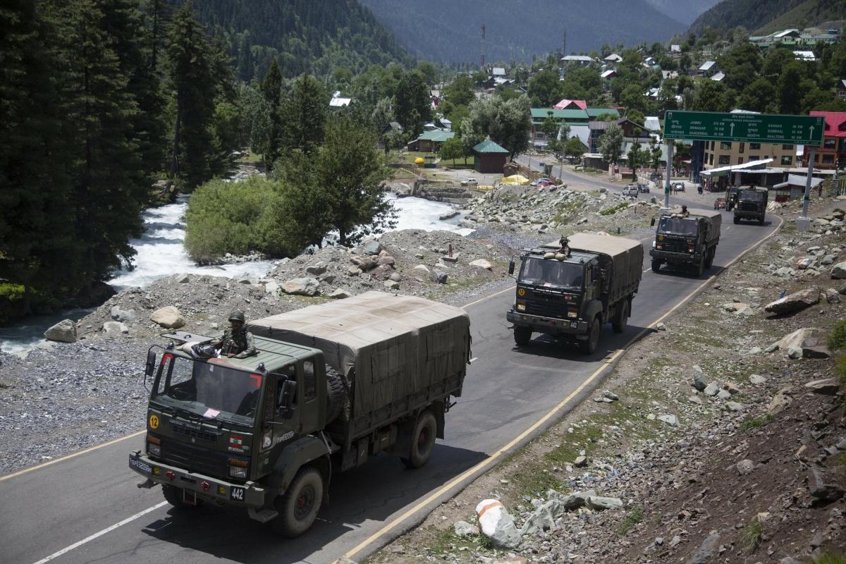Ấn Độ chuẩn bị diễn tập an ninh tại biên giới với Trung Quốc. Ảnh: AP