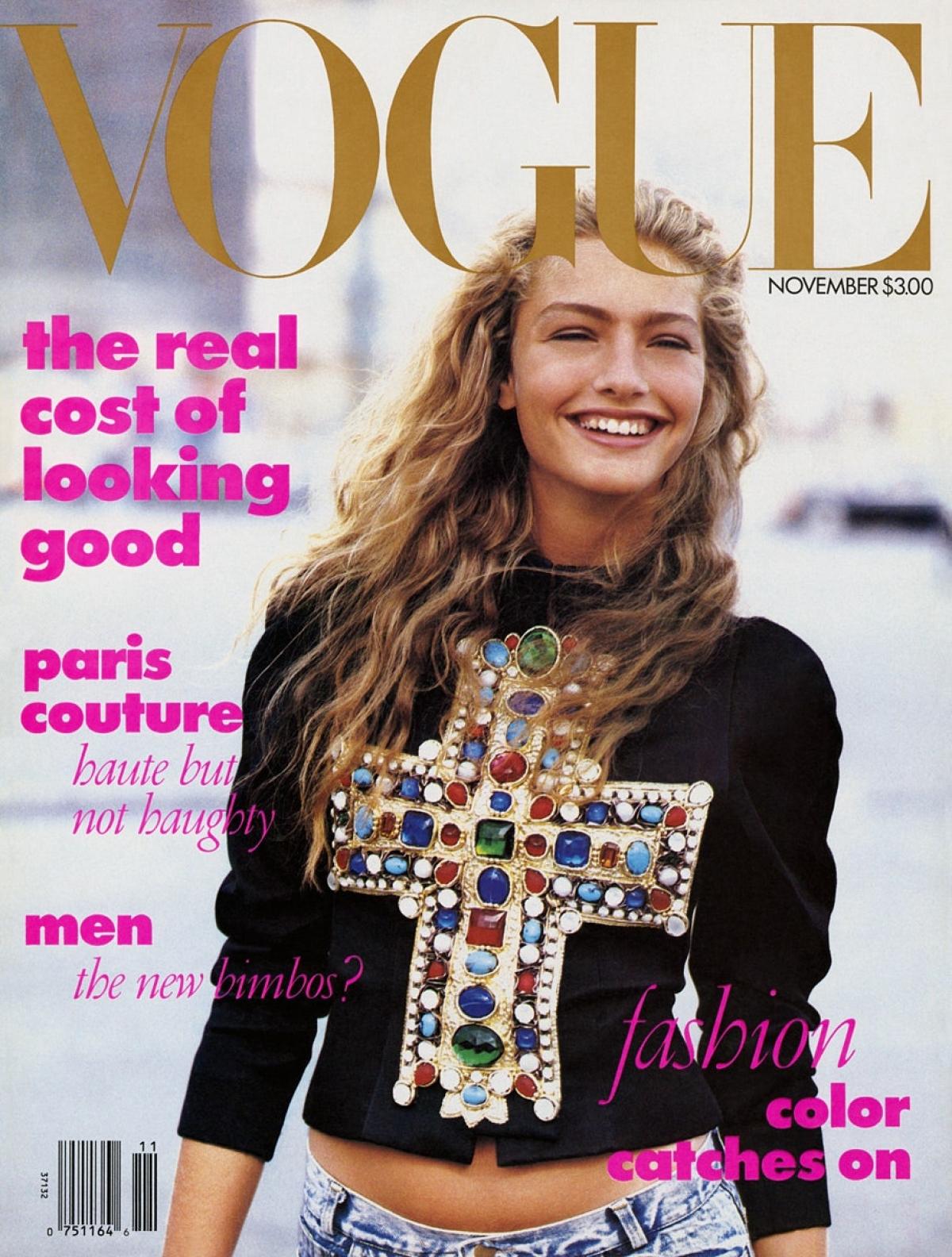 Trang bìa tạp chí Vogue 1988.