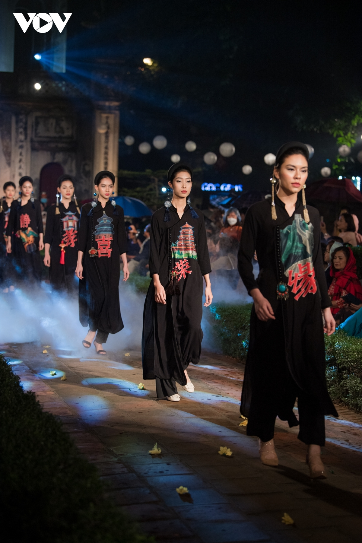 Each of the outfits is made using traditional materials such as silk and ramie.