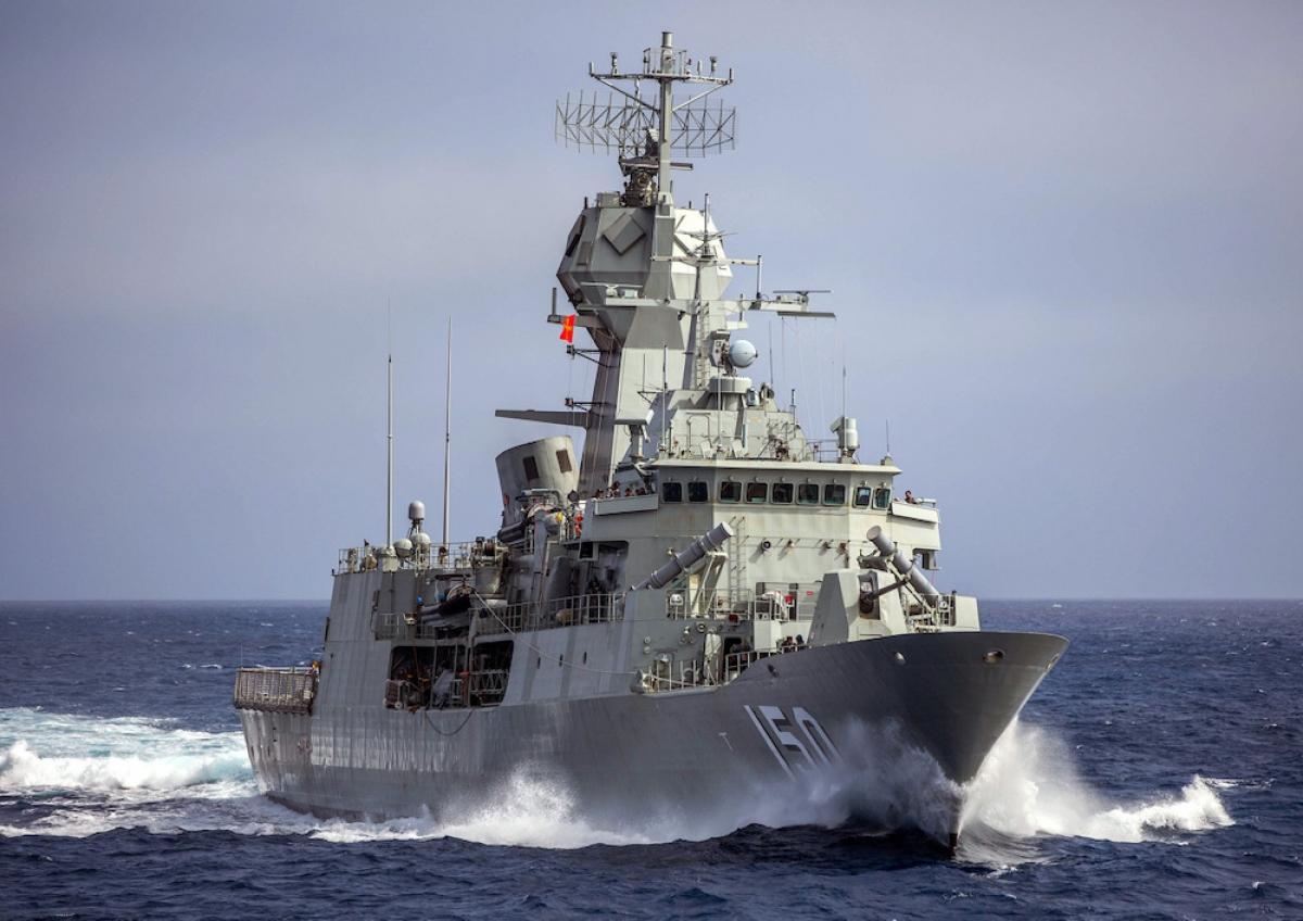 Australia cử 2 tàu chiến tham gia cuộc tập trận La Perouse tại vịnh Bengal cùng hải quân Pháp và nhóm Bộ Tứ. Ảnh: Hải quân Australia.