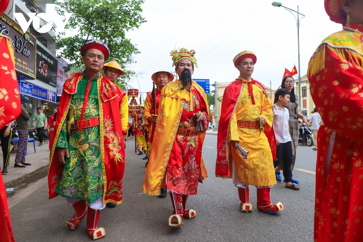 Elderly members of the community play a key role in the procession.