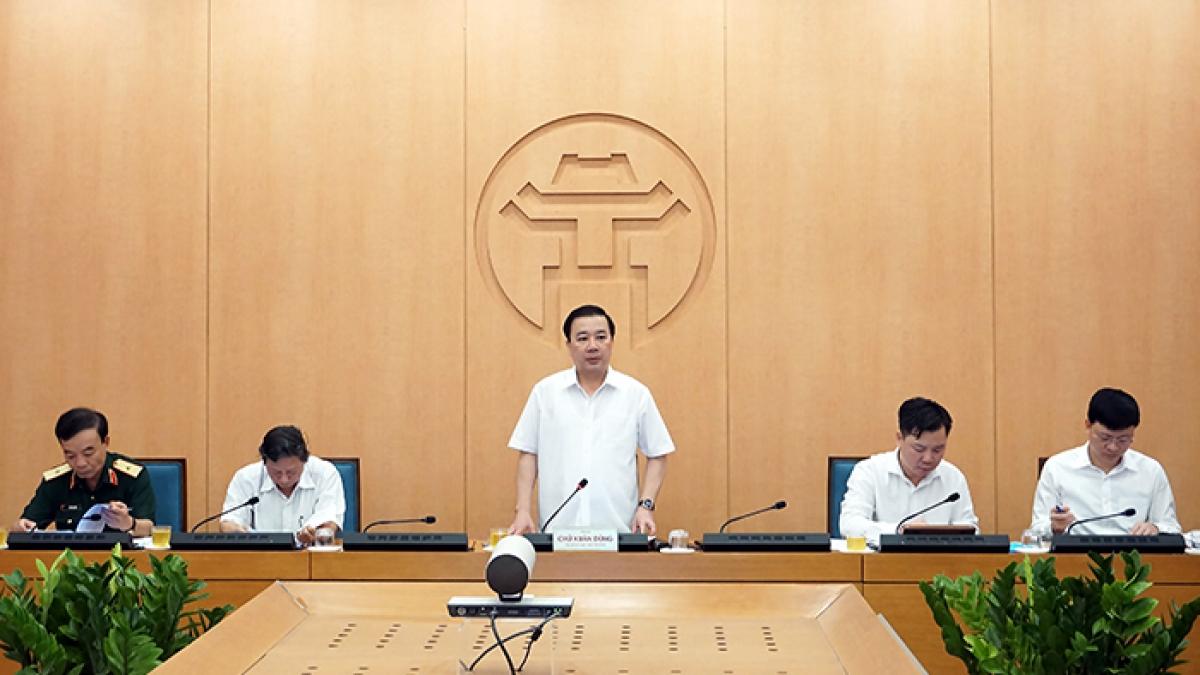 Ông Chử Xuân Dũng phát biểu chỉ đạo tại phiên họp trực tuyến
