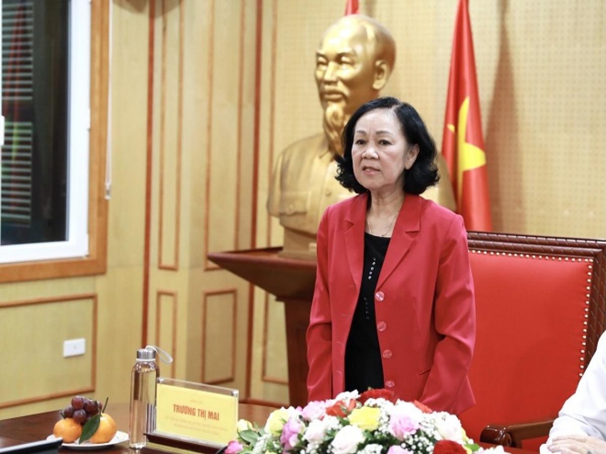 Trưởng Ban Tổ chức Trung ương Trương Thị Mai phát biểu.