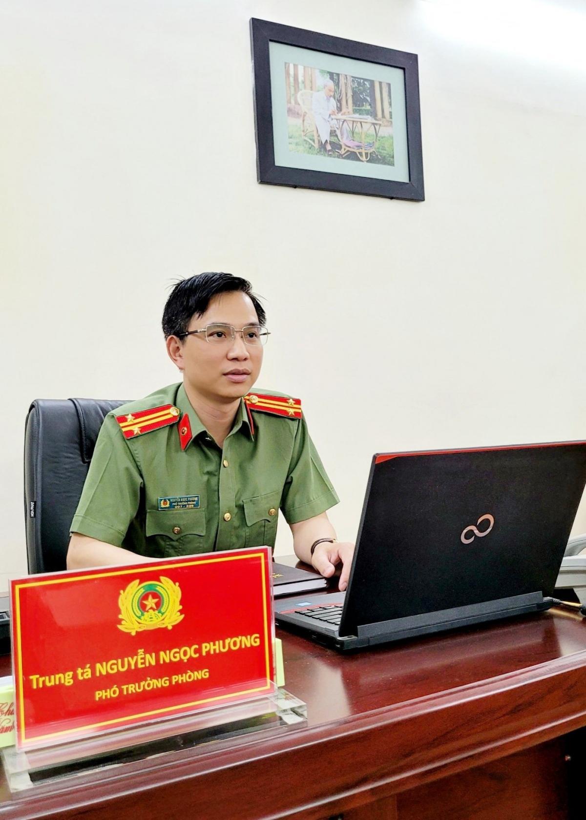 Trung tá Nguyễn Ngọc Phương, Phó Trưởng phòng An ninh báo chí xuất bản.