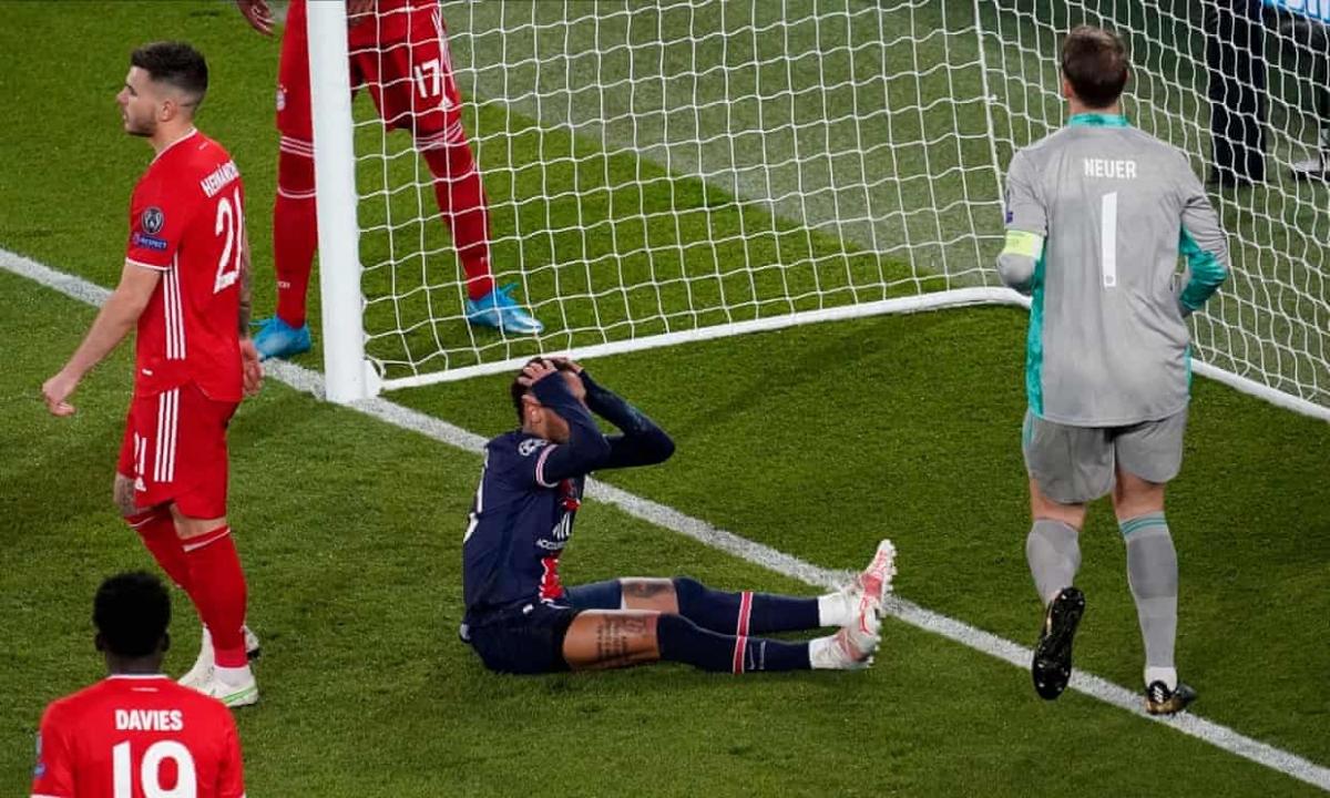 Neymar vô duyên với mành lưới Bayern Munich. (Ảnh: Getty)