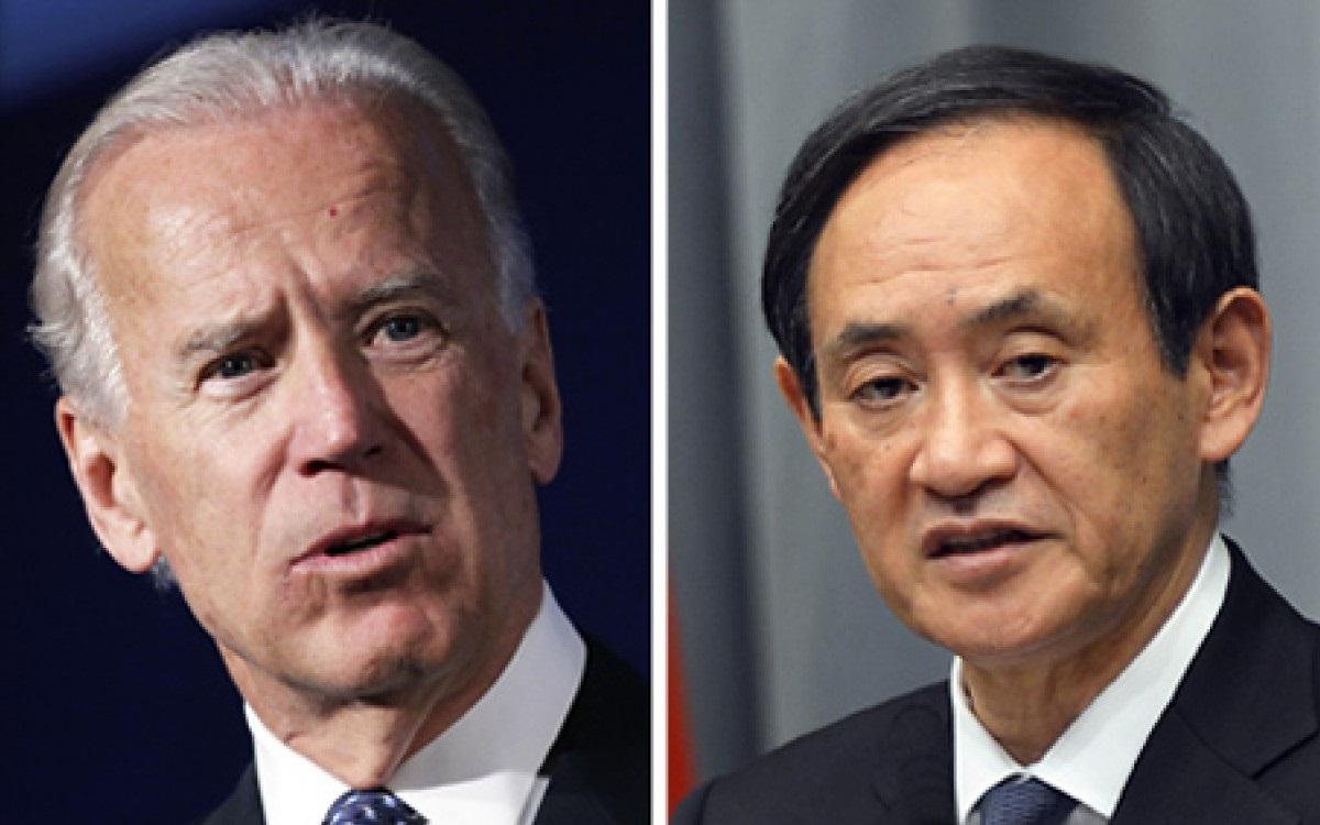 Tổng thống Mỹ Biden và Thủ tướng Nhật Bản Suga. Ảnh: SCMP.
