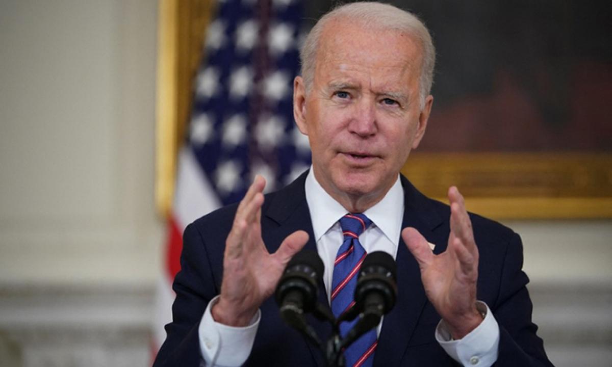 Tổng thống Mỹ Joe Biden phát biểu tại Nhà Trắng hôm 2/4. Ảnh:AFP.