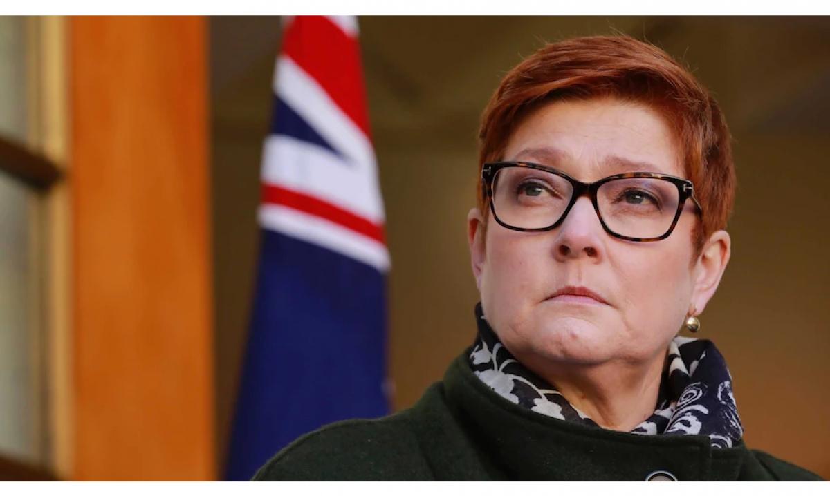 Bộ trưởng Ngoại giao Australia Marise Payne. Nguồn ABC News.png
