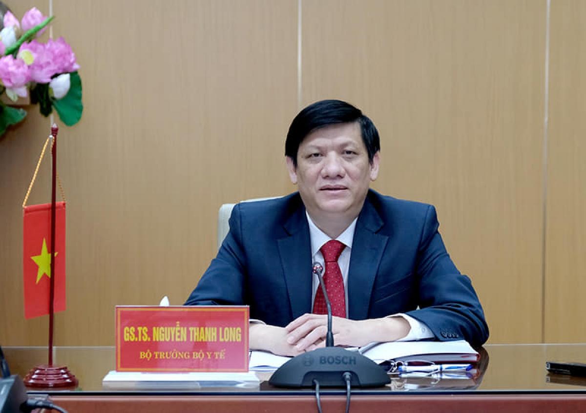 GS.TS Nguyễn Thanh Long, Bộ trưởng Bộ Y tế đã có cuộc họp trực tuyến với ngài Mam Bunheng, Bộ trưởng Bộ Y tế Campuchia.