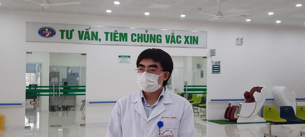 TS.BS Vũ Minh Điền, Phó Giám đốc Trung tâm phòng, chống dịch, Bệnh viện Bệnh Nhiệt đới Trung ương.