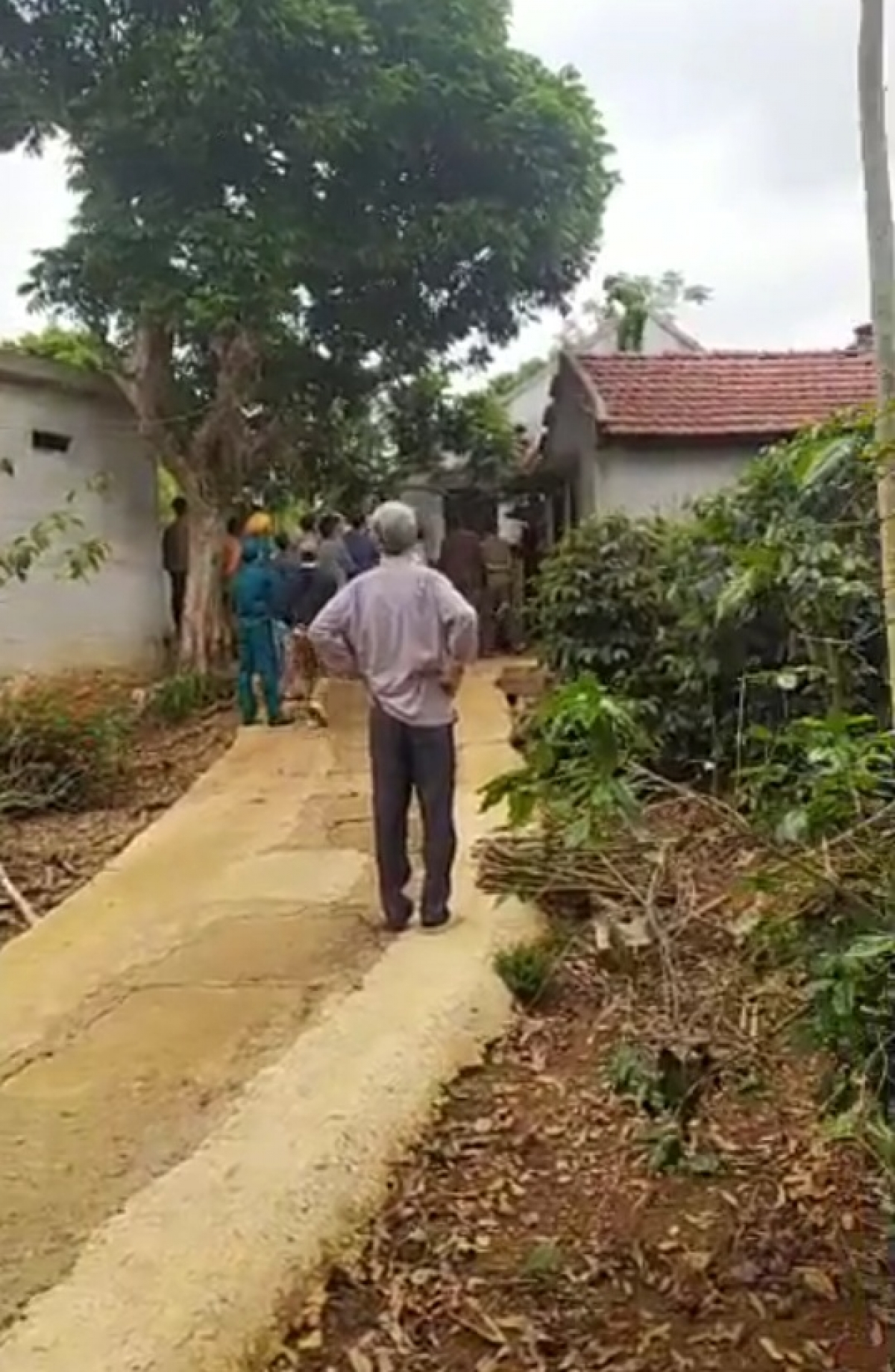 Căn nhà nơi xảy ra vụ án mạng.