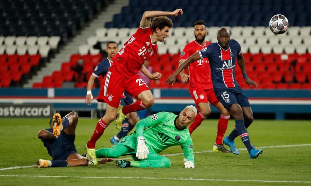 Bayern Munich trở thành cựu vương Champions League trong bối cảnh thiếu vắng Lewandowski vì chấn thương. (Ảnh: Getty)