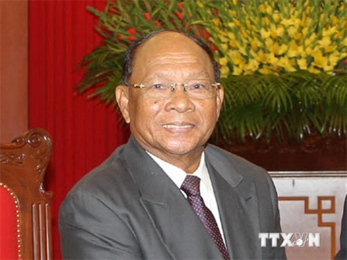 Chủ tịch Quốc hội Vương quốc Campuchia Xăm-đéc Ạ-kẹ Mô-ha Pô-nhia Chạ-kơ-rây Hêng Xom-rim. Ảnh: TTXVN