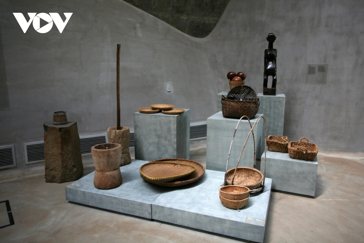Historic Vietnamese coffee processing tools are also on display in the building.