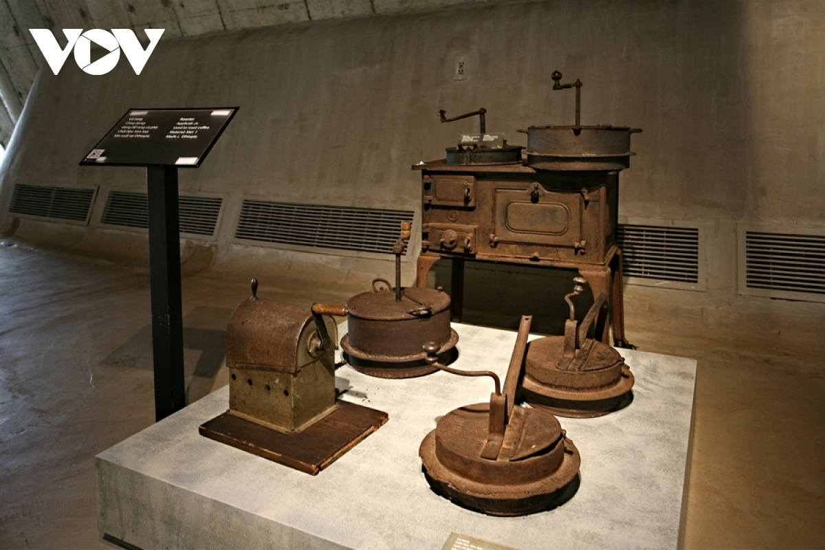 In the photo are ancient tools used to process coffee originating from Ethiopia.