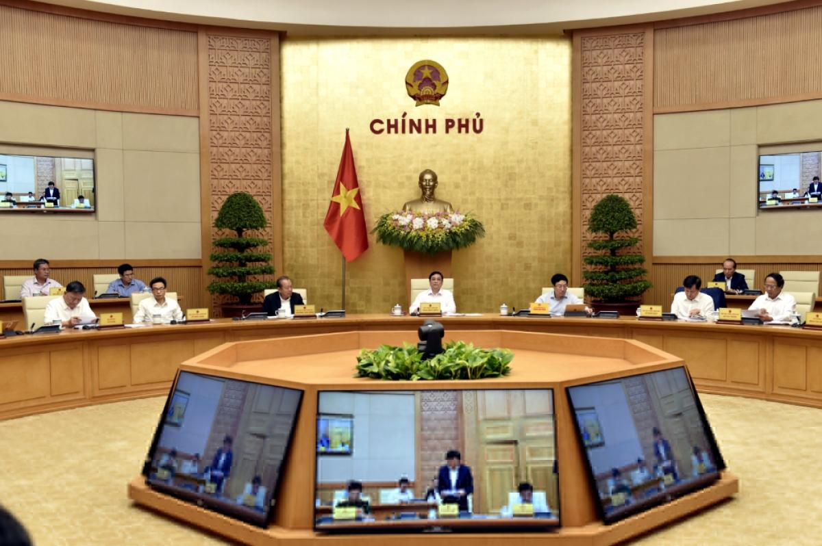 Quang cảnh phiên họp Chính phủ ngày 15/4/2021 - Ảnh: VGP/Nhật Bắc
