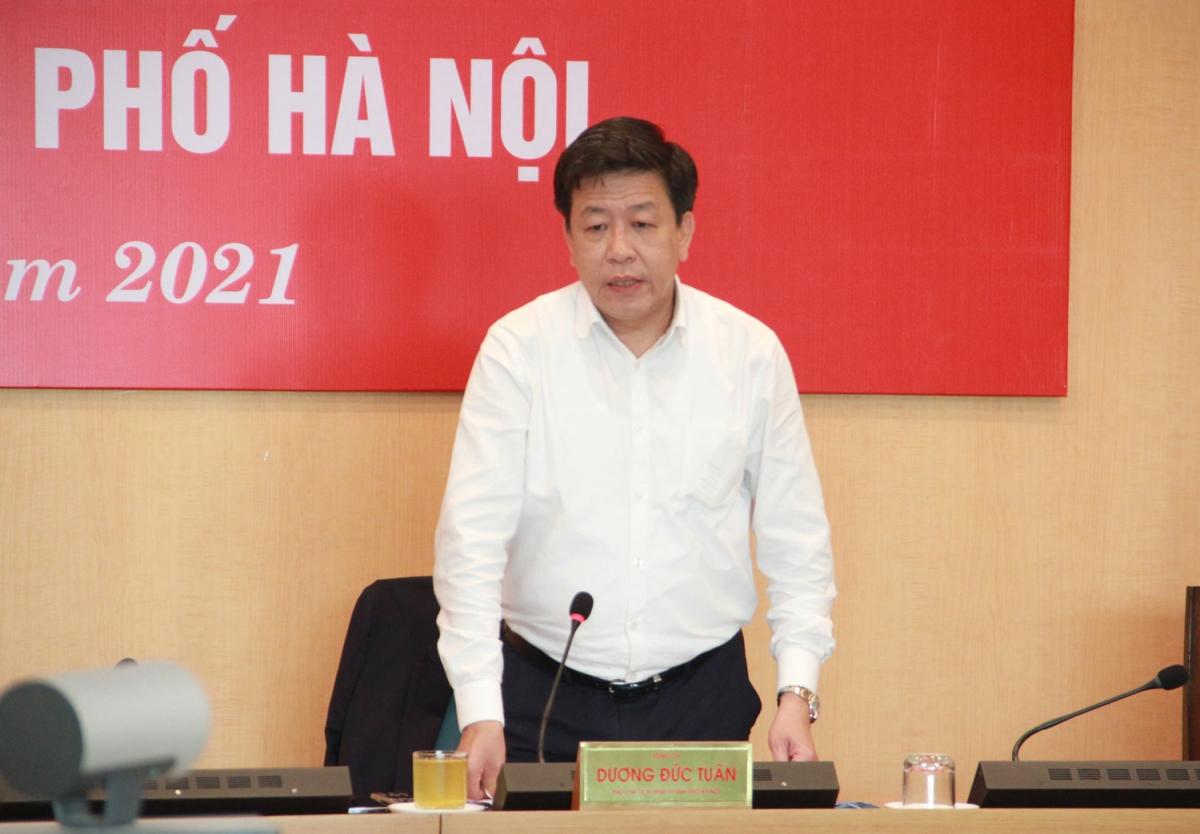 Ông Dương Đức Tuấn - Phó Chủ tịch UBND thành phố Hà Nội, yêu cầu rà soát nội dung phát triển vành đai 4 liên vùng Thủ đô.