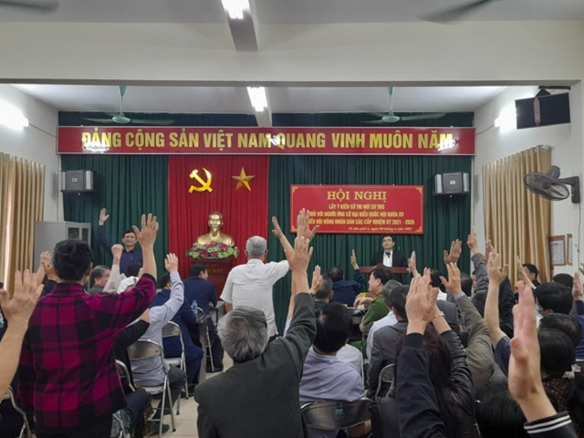 Hội nghị cử tri nơi cư trú - Thử thách đầu tiên đối với các ứng cử viên.