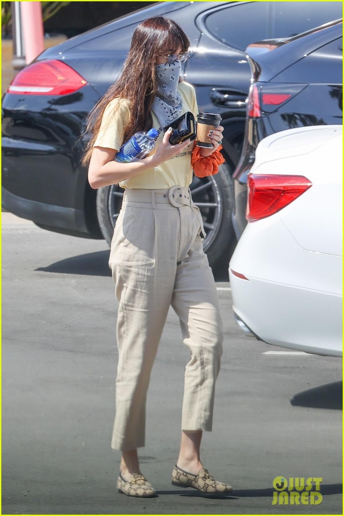Dakota Johnson một mình đi mua sắm tại cửa hàng tạp hóa ở Malibu.