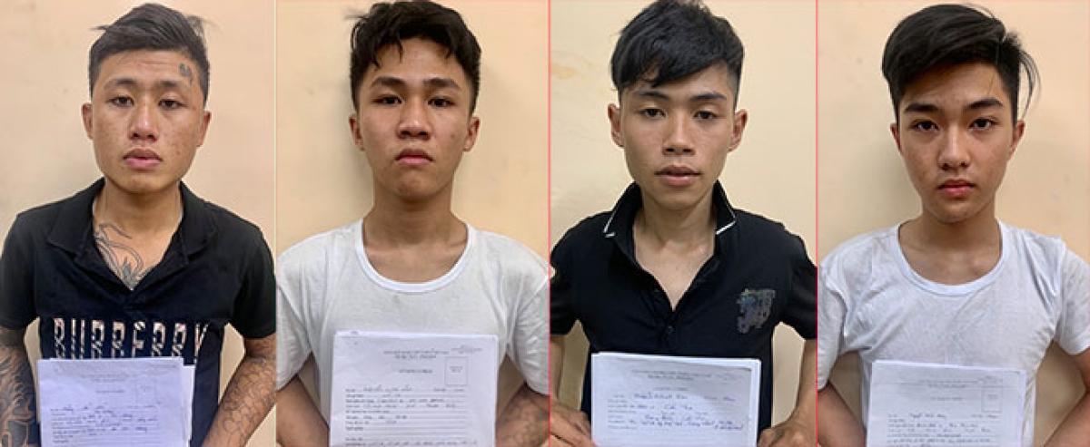Một số đối tượng bị bắt giữ trong 2 băng tội phạm.