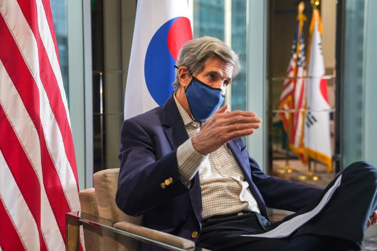 Đặc phái viên Mỹ John Kerry. Ảnh: New York Times.